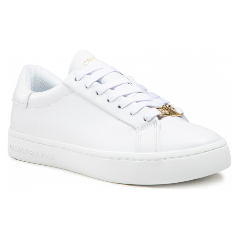 Sneakersy CALVIN KLEIN JEANS - Cupsole Sneaker Laceup YW0YW00162 Bright White YAF