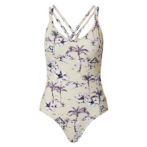 InWear Strój kąpielowy 'Ebony' fioletowy / beżowy / szary