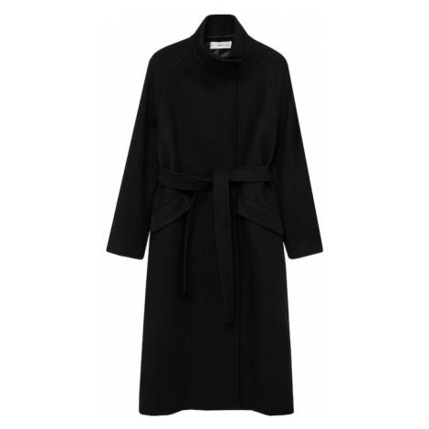 MANGO Płaszcz przejściowy 'Abrigo Venus' czarny