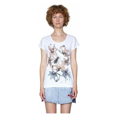 Desigual Damska koszulka Ts Always For You 18SWTKIE 1000