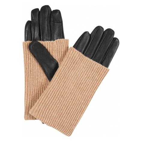 ONLY Rękawiczki pięciopalczaste czarny / beżowy