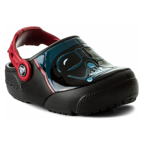 Klapki CROCS - Funlab Lights Darth Vader 204137 Black