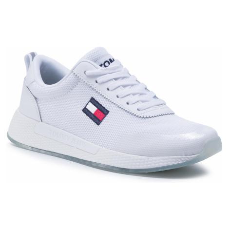 Sneakersy TOMMY JEANS - Wmns Tommy Jeans Flexi Runner EN0EN00946 White YBR Tommy Hilfiger