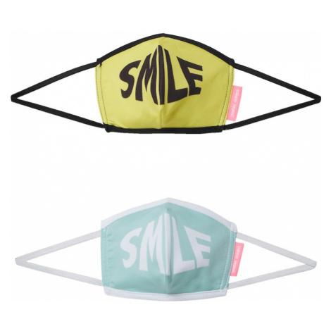 Inferno Ragazzi Maska z materiału 'A SMILE A DAY KEEPS THE DOCTOR AWAY' żółty / zielony