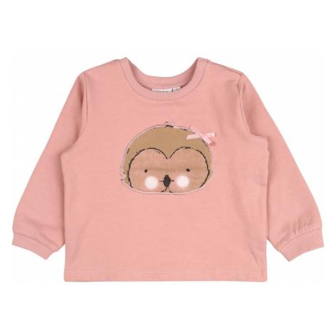 NAME IT Bluzka sportowa 'NATALY' różowy pudrowy / brązowy