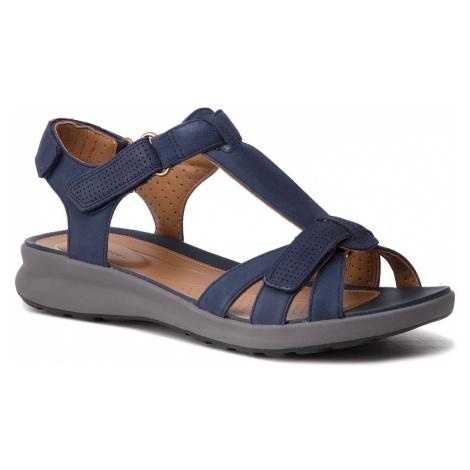 Sandały CLARKS - Un Adorn Vibe 261417214 Navy Nubuck