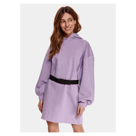 TOP SECRET fioletowa sukienka bluzowa