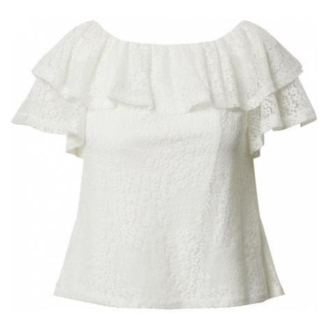 Dorothy Perkins Koszulka 'Ivory lace ruffle bardot top' biały