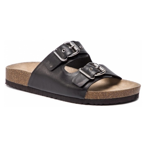 Klapki CAPRICE - 9-27400-22 Black Nappa 022