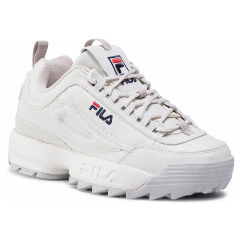Sneakersy FILA - Disruptor Low Wmn 1010302.84N Marshmallow/Silver Cloud