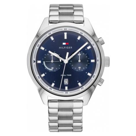 TOMMY HILFIGER Zegarek analogowy ciemny niebieski / srebrny
