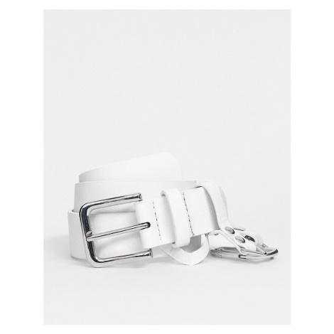 ASOS DESIGN dogclip and chain waist and hip belt
