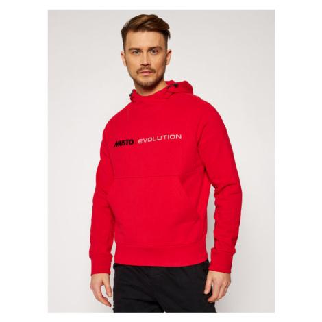 Musto Bluza Evo Logo 82043 Czerwony Regular Fit