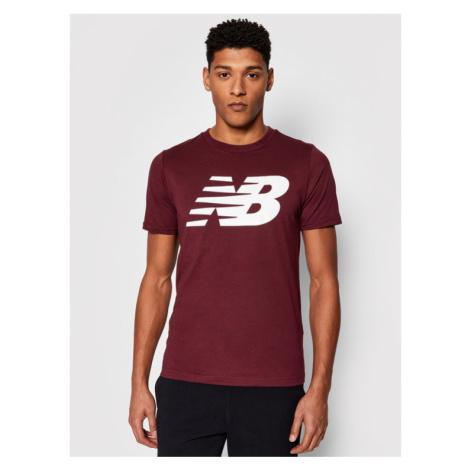 New Balance T-Shirt MT03919 Bordowy Regular Fit