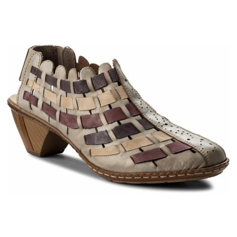 Sandały RIEKER - 46778-62 Beige Kombi
