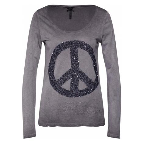 Key Largo Koszulka 'PEACE' antracytowy / srebrny