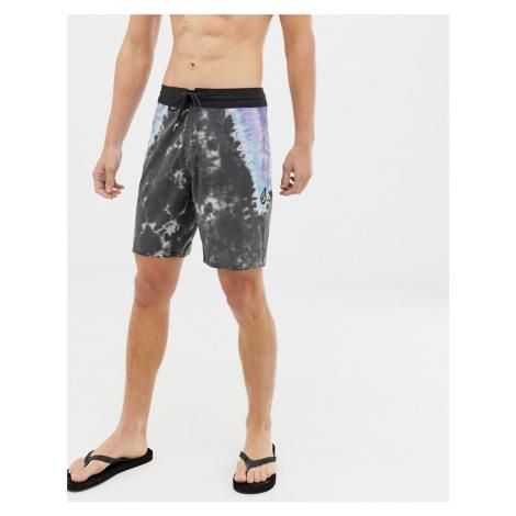 Volcom Stoney tie dye 19 swim shorts in black