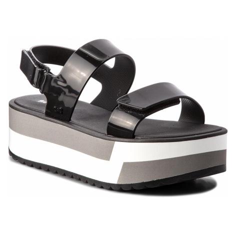 Sandały ZAXY - Slash Plat Sandal Fem 17525 Black 90058 AA285086 02064