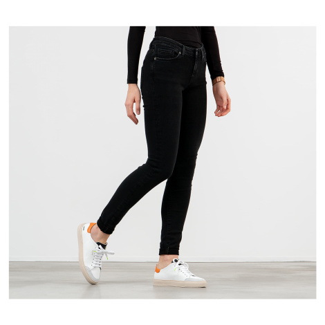 SELECTED Mid Waist Skinny Fit Jeans Black Wash