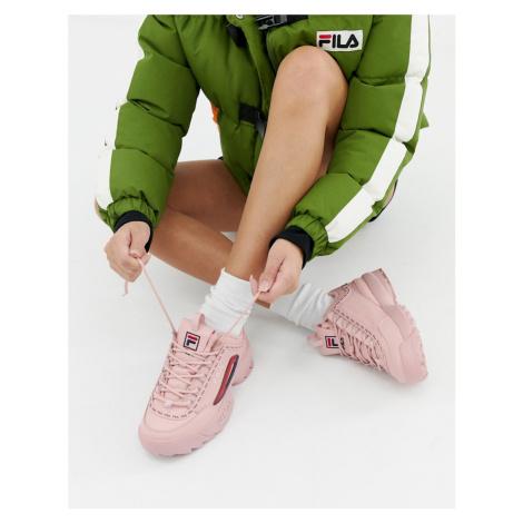Fila Pink Taped Logo Disruptor 2 Premium Trainers