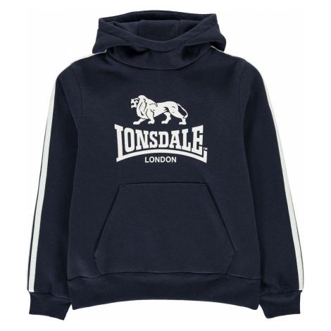 Lonsdale 2 Stripe OTH Hoodie Junior Boys