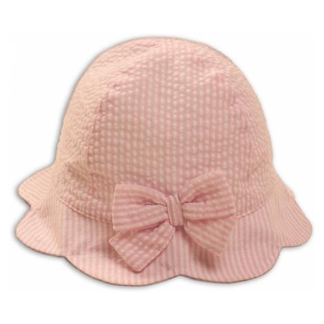 Kapelusz niemowlęcy na lato-różowy w paski rozm. 50 Minoti