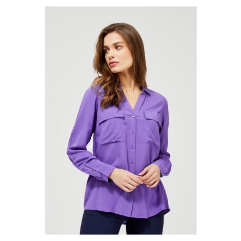 Moodo fioletowa zapinana koszula