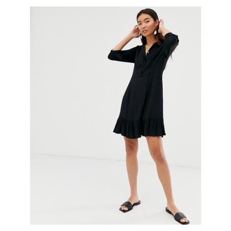 Whistles agata shirt mini dress with frill hem