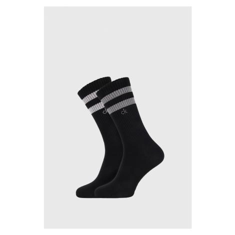 2 PACK czarnych skarpetek Calvin Klein Maurice