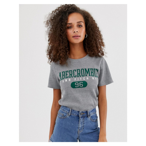 Abercrombie & Fitch waffle t-shirt with sports logo