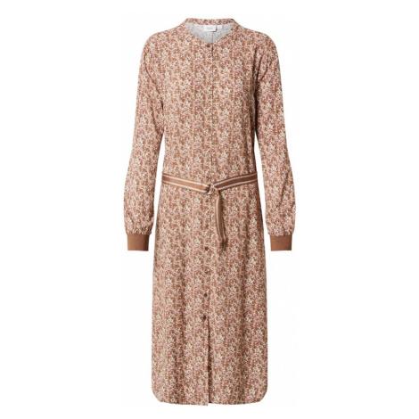 SAINT TROPEZ Sukienka koszulowa biały / brązowy