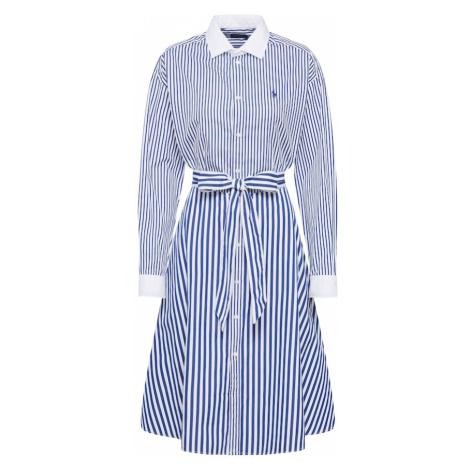 POLO RALPH LAUREN Sukienka koszulowa 'LS ELA DR' biały / granatowy