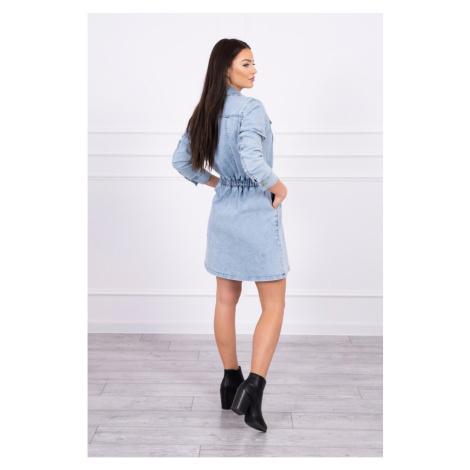 Rozciągliwa sukienka dżinsowa S/M-L/XL