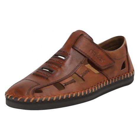 RIEKER Pantofle brązowy