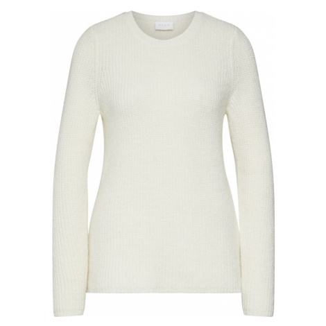 VILA Sweter 'VIGOOD O-NECK KNIT TOP' biały