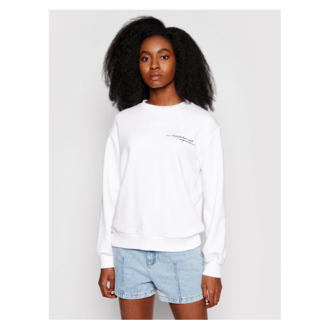 NA-KD Bluza Quote Printed 1018-006870-0001-003 Biały Regular Fit