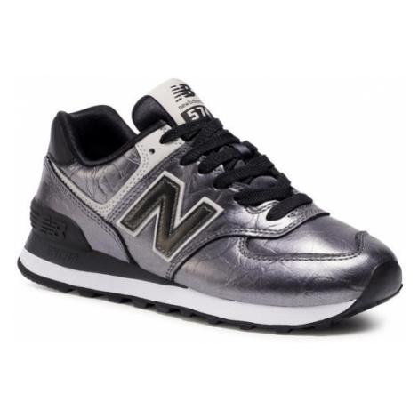 New Balance Sneakersy WL574WNF Srebrny