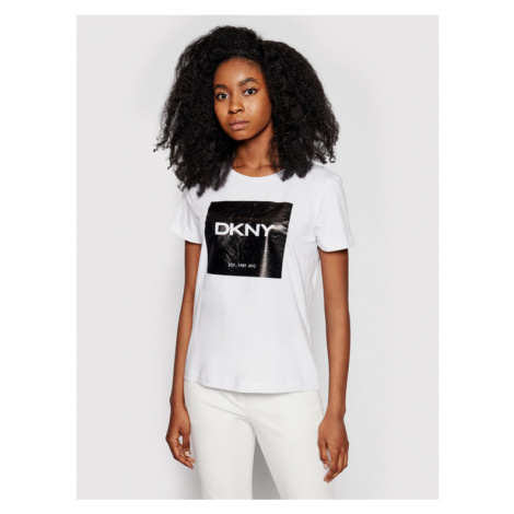 DKNY T-Shirt P1AUPDNA Biały Regular Fit
