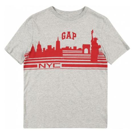 GAP Koszulka 'City' nakrapiany szary / czerwony