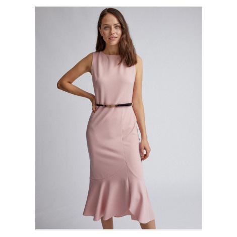 Pink sleeve dress with dorothy perkins flounce