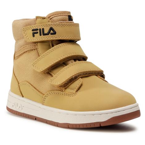 Trzewiki FILA - Knox Velcro Mid Jr 1011086.EDU Żółty