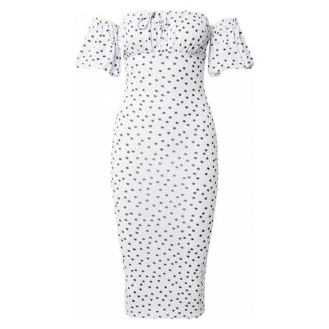 Missguided Sukienka 'Polka' biały