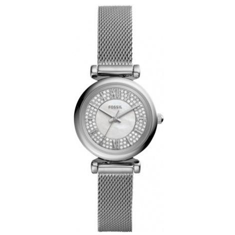 Fossil Zegarek Carlie Mini ES4837 Srebrny