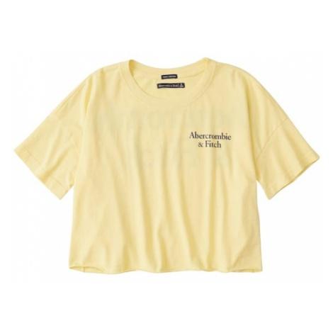 Abercrombie & Fitch Koszulka 'SB19-SS DROP SHOULDER LOGO TEE' żółty