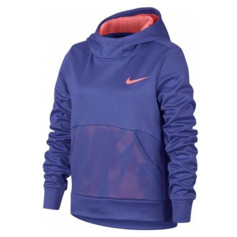 Nike NK THERMA HOODIE PO ENERGY fioletowy M - Bluza sportowa dziewczęca