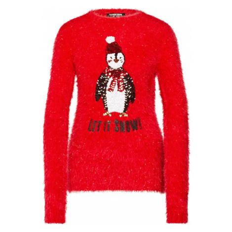 Fashion Union Sweter 'PENGUIN' czerwony