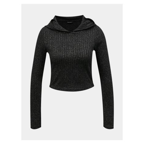 Tally Weijl czarny damski sweter z kapturem