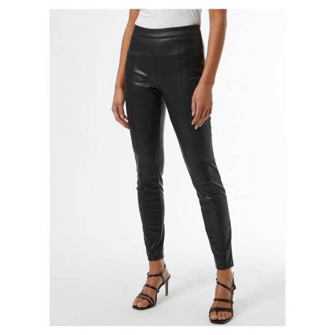 Czarne legginsy ze sztucznej skóry Dorothy Perkins