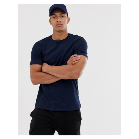 ASOS DESIGN organic t-shirt with crew neck in navy