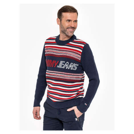 "Tommy Jeans ""Structure Mis Sweater"" Blue Tommy Hilfiger"
